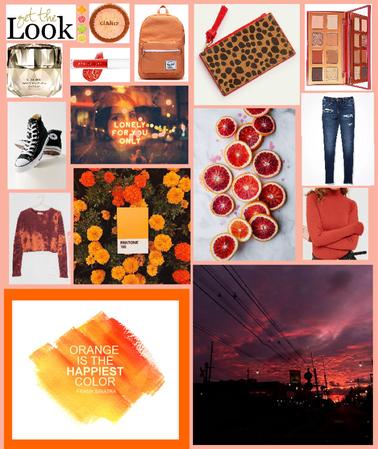 Orange-Themed Moodboard