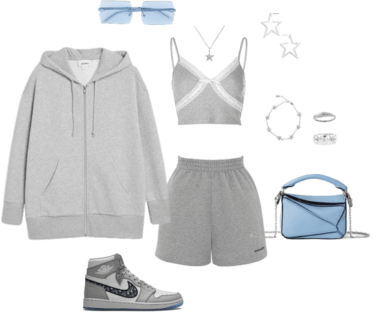 grey and blue