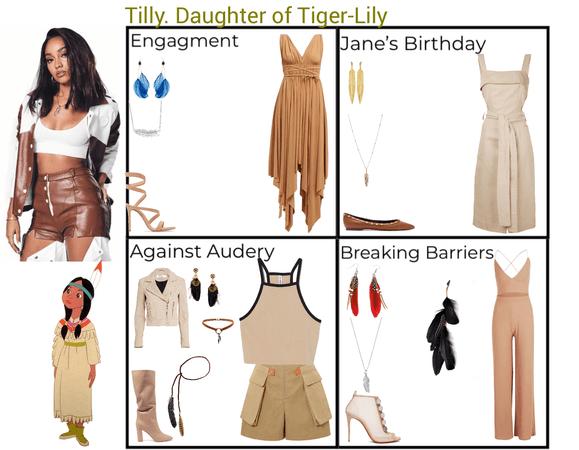 Tilly. Daughter of Tiger-Lily. Descendants 3