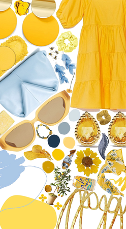 light blue/yellow color combo fashion 2020