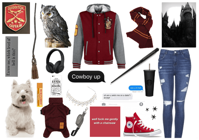 Gryffindor modern day outfit