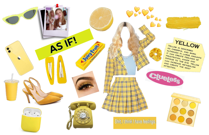 clueless/yellow theme aesthetic