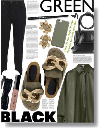 black & green 🖤💚