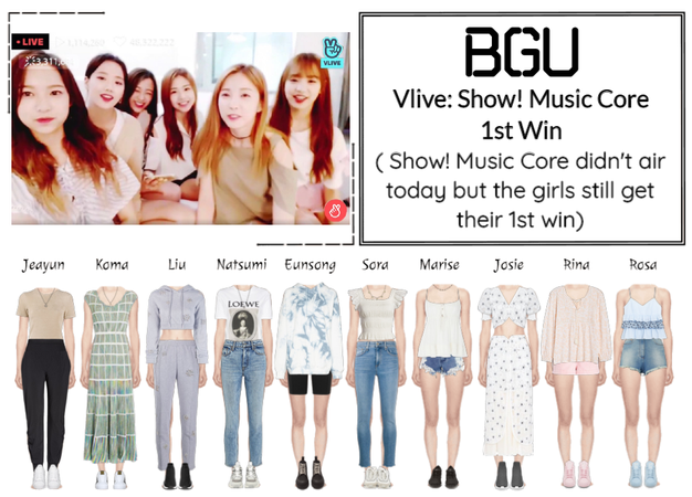 BGU Vlive: Show! Music Core 1st Win