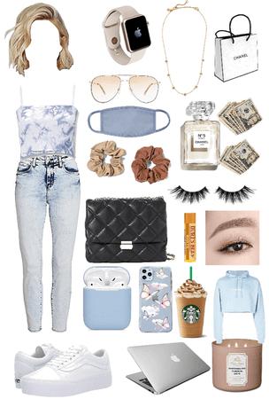 Blue  rich girl