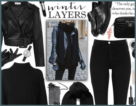 Winter Layers: Simple black