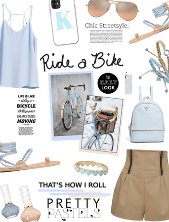 Pretty pastels.  Ride a bike