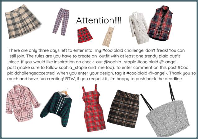#coolplaid challenge announcement