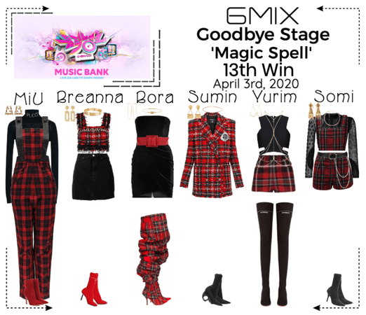 《6mix》Music Bank Goodbye Stage 'Magic Spell'