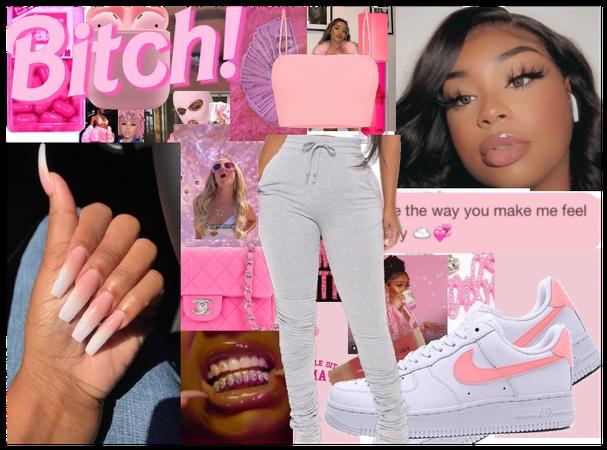 Pink Baddie💓💞🌺🌸💮🐯🐖💗🧠