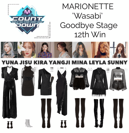 MARIONETTE (마리오네트) MCountdown Goodbye Stage 'Wasabi'