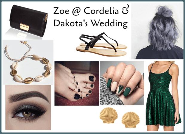 Zoe @ Cordelia & Dakota's Wedding