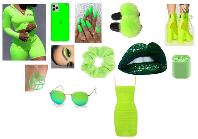 Lime green for a green day