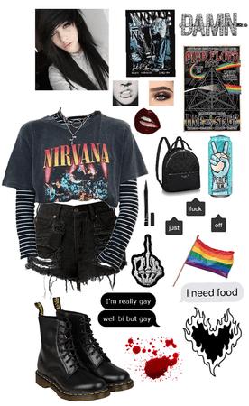 Punk Denim Shorts Style