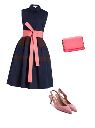 Navy and hot pink