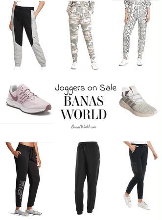 joggers and sneakers