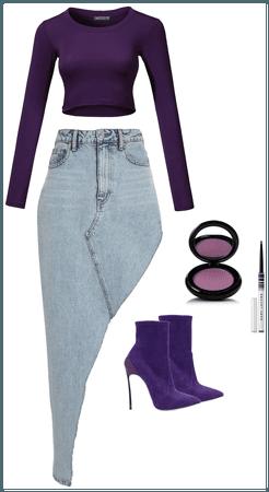 Purple and Denim