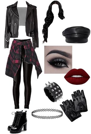 biker girl costume