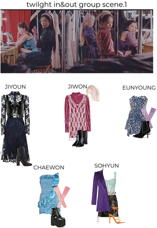 twilght in&out mv group scene 1 outfits