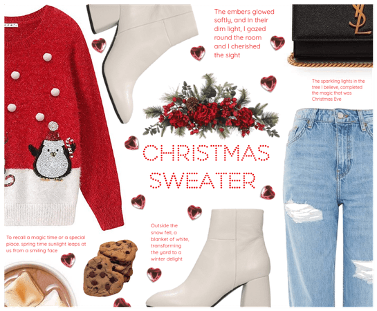 ♡ Christmas Sweater look #1 ♡