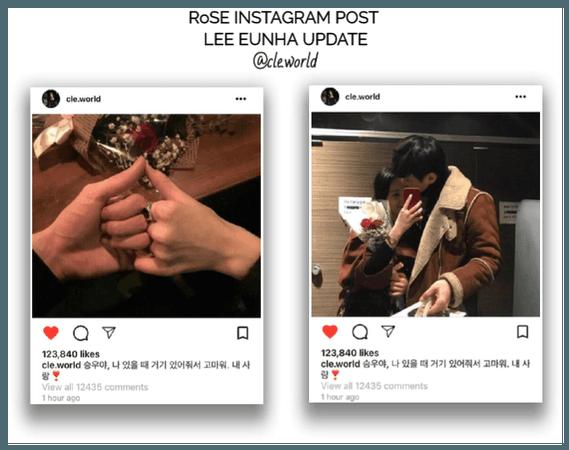 {RoSE} [Lee Eunha] Official Instagram Post