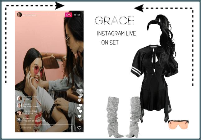 [THE EMPRESSES] GRACE INSTAGRAM LIVE ON SET