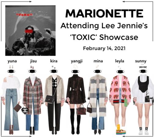 """마리오네트 (𝗠𝗔𝗥𝗜𝗢𝗡𝗘𝗧𝗧𝗘) - Attending Lee Jennie's """"TOXIC"""" Showcase"""