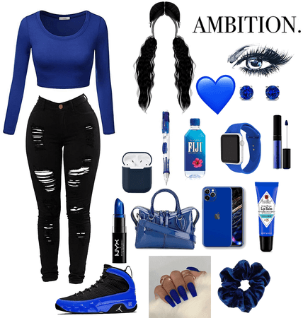 Blue and black 💙🖤