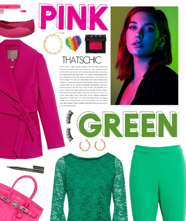 pink/green: bright and bold