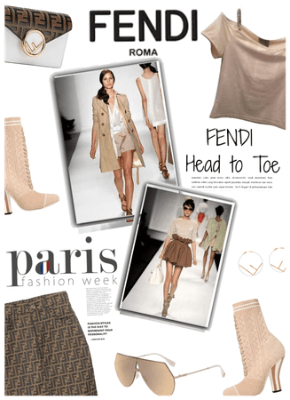 Paris Fashion Week/Fendi head 2 toe