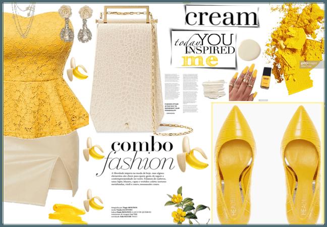 Yellow inspired by cream