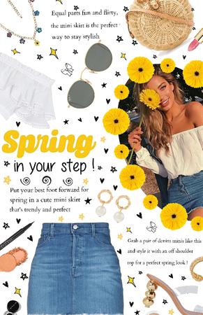 Spring Mini Skirt