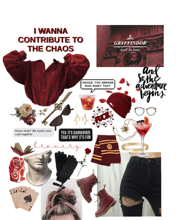 Gryffindor's Everyday Outfit (and mood)