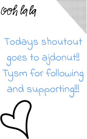 today's shoutout