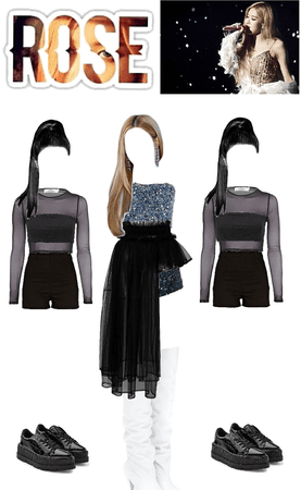 Blackpink Rosé solo stage outfit
