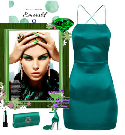 May Birth Month Emerald Style