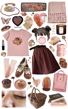 soft pink & chocolate brown