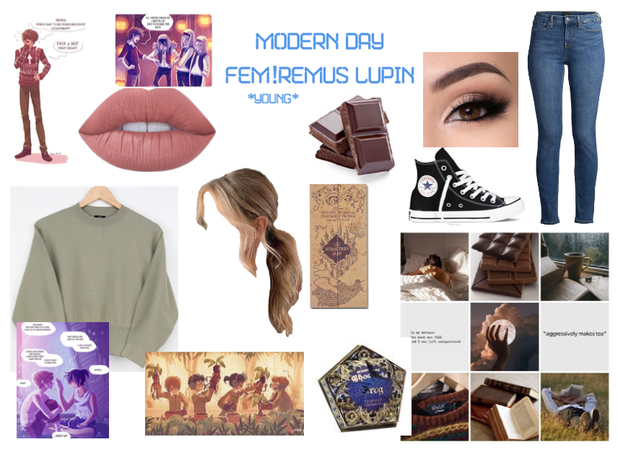 Modern Day Characters Ten: Fem!Remus Lupin (young)