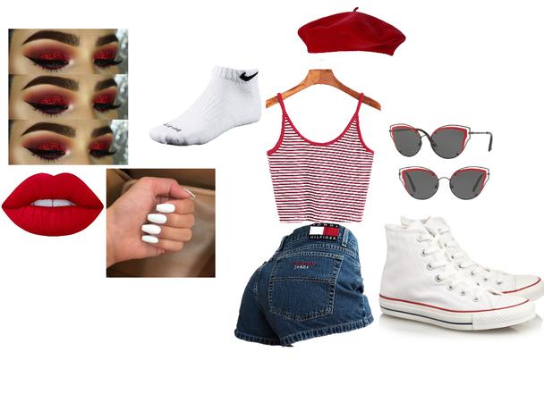 Red city girl