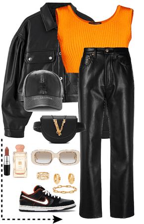 Orange and Black.
