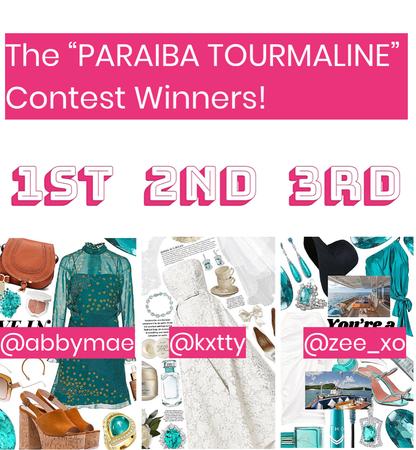 "The ""Paraiba Tourmaline"" Contest Winners!!!"