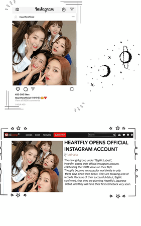Heartfly [하트플라이요] Instagram post + Allkpop article