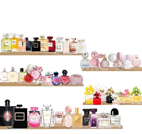 perfume shelf