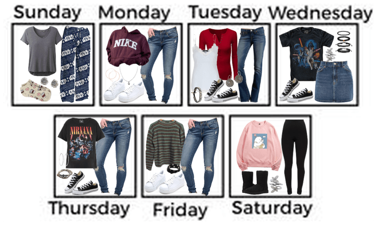 What I Wore For A Week / My Wardrobe For A Week