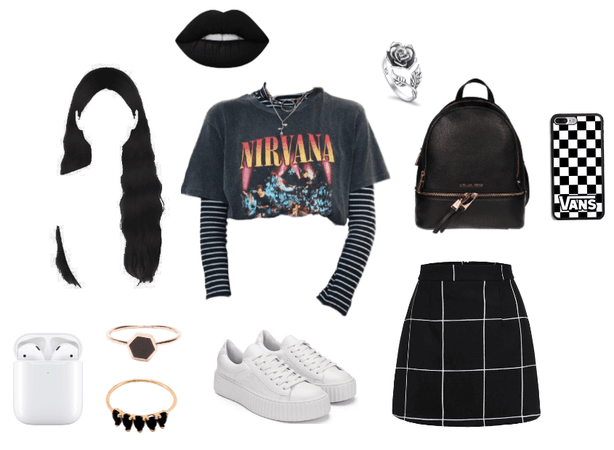 Goth/punk girl outfit