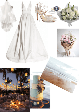A white beach wedding