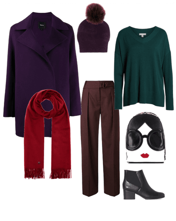 Everyday outfit for deep winter