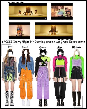 5ROSES 'Starry Night' Mv Opening + 1st Dance scene