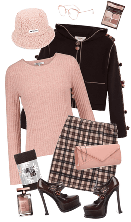 Rose & Brown Cashmere