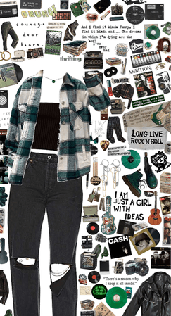 green, grunge, and everything vintage